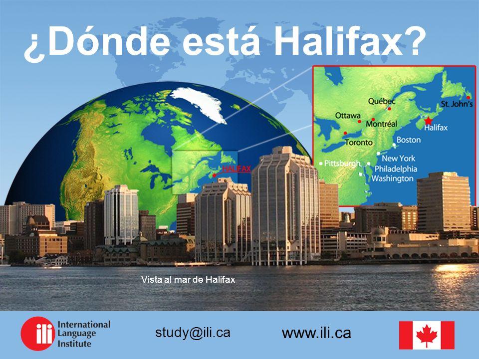 www.ili.ca study@ili.ca ¿Dónde está Halifax? Vista al mar de Halifax