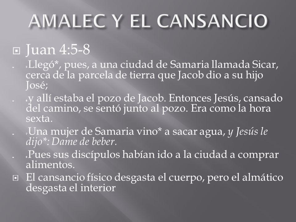 Juan 4:5-8 5 Llegó*, pues, a una ciudad de Samaria llamada Sicar, cerca de la parcela de tierra que Jacob dio a su hijo José; 6 y allí estaba el pozo de Jacob.