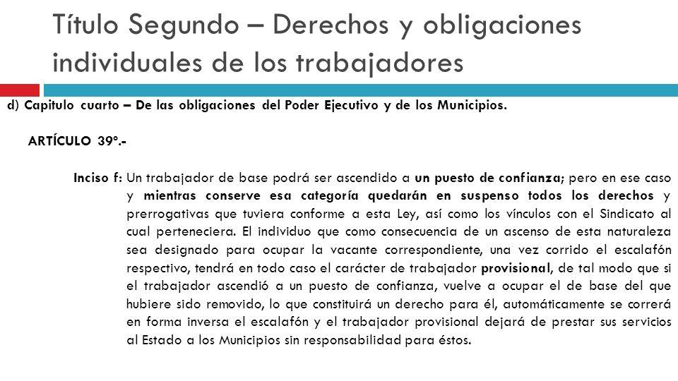 Título Sexto – Del tribunal de arbitraje a) Capitulo Primero - De la integración del Tribunal de Arbitraje.