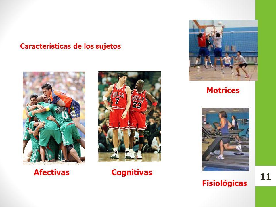 Características de los sujetos CognitivasAfectivas Motrices Fisiológicas 11
