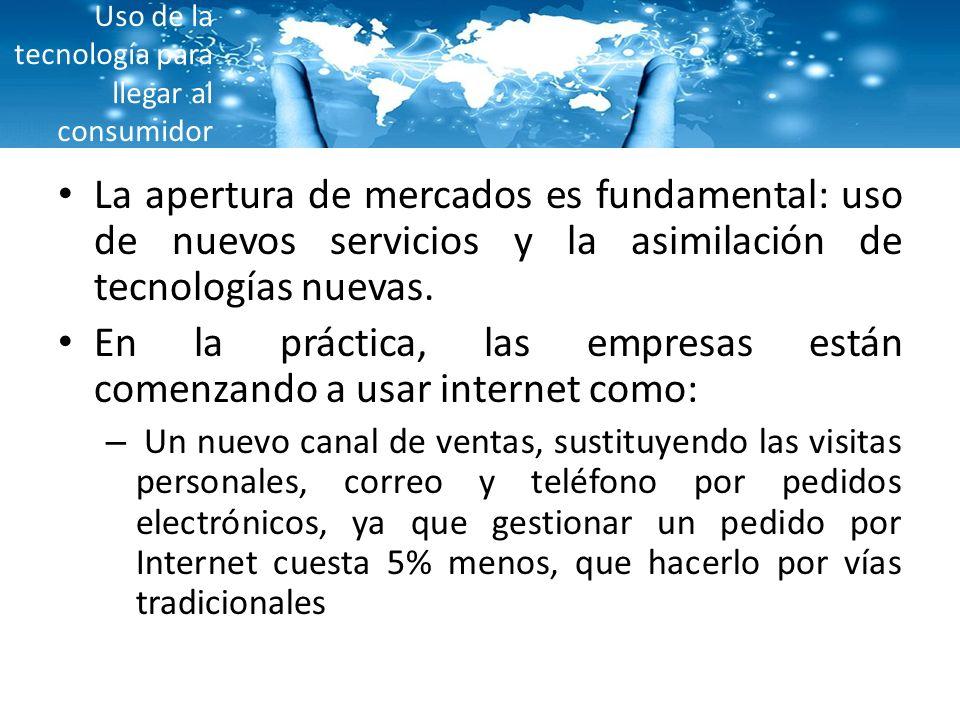 Uso de la tecnología para llegar al consumidor 66 horas mensuales son invertidas en el internet por el usuario promedio (sin contar las horas en el trabajo).