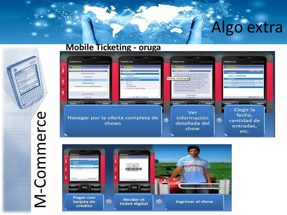Algo extra M-Commerce Mobile Ticketing - oruga