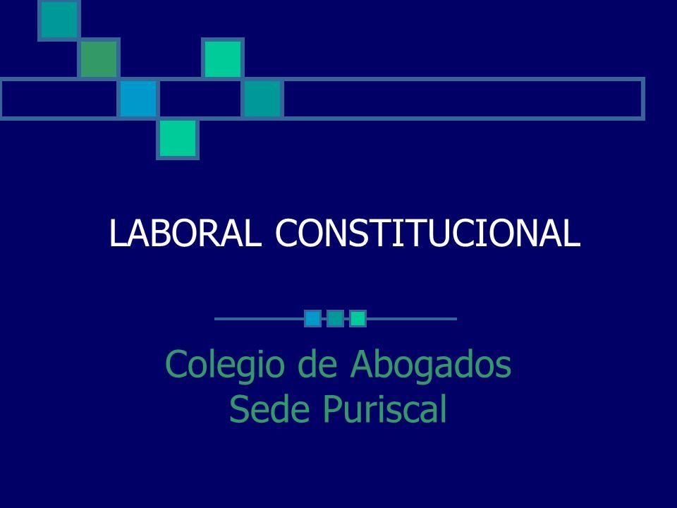 LABORAL CONSTITUCIONAL Colegio de Abogados Sede Puriscal