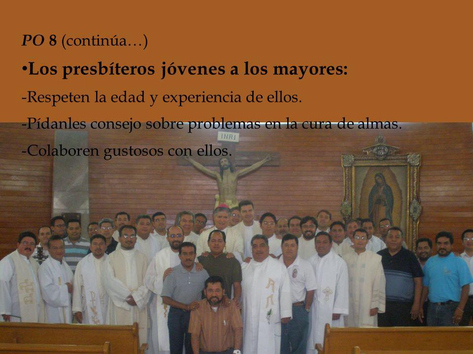 PO 8 (continúa…) Guiados por el espíritu fraterno: -Hospitalidad---Enfermos, afligidos, aislados, -Beneficencia---demasiado cargados de traba- -Asistencia mutua---jo, lejos de la patria, etc.