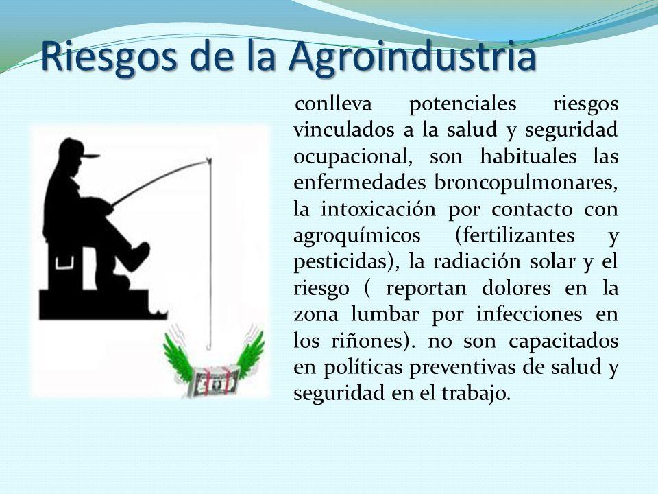 Riesgos de la Agroindustria conlleva potenciales riesgos vinculados a la salud y seguridad ocupacional, son habituales las enfermedades broncopulmonar
