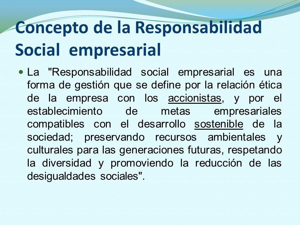 Concepto de la Responsabilidad Social empresarial La
