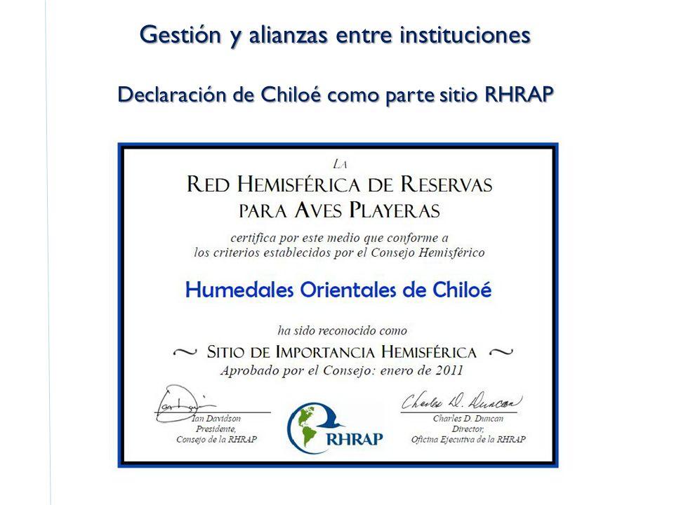 Declaración de Chiloé como parte sitio RHRAP