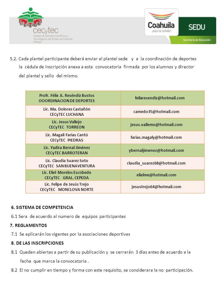 6. SISTEMA DE COMPETENCIA 6.1 Sera de acuerdo al numero de equipos participantes 7. REGLAMENTOS 7.1 Se aplicarán los vigentes por la asociaciones depo
