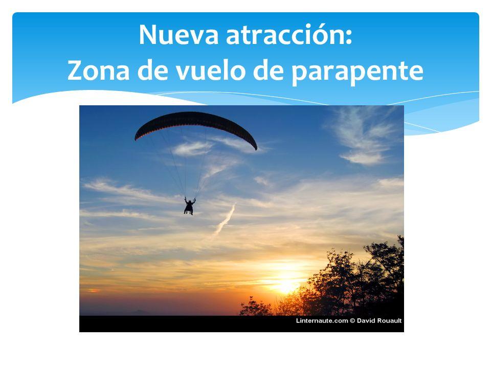 Nueva atracción: Zona de vuelo de parapente