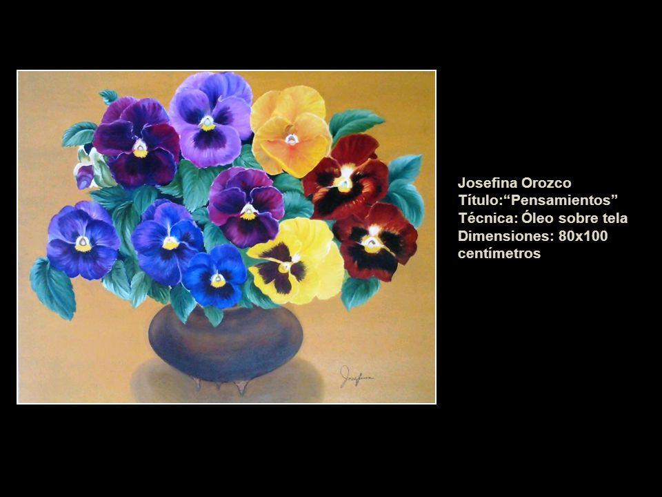 Josefina Orozco Título:Pensamientos Técnica: Óleo sobre tela Dimensiones: 80x100 centímetros