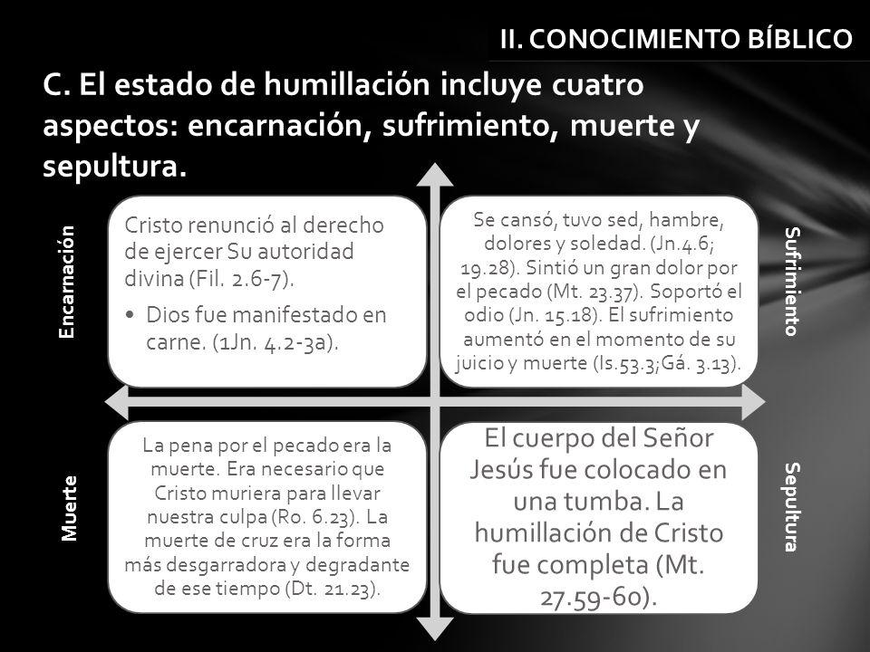 Cristo renunció al derecho de ejercer Su autoridad divina (Fil. 2.6-7). Dios fue manifestado en carne. (1Jn. 4.2-3a). Se cansó, tuvo sed, hambre, dolo