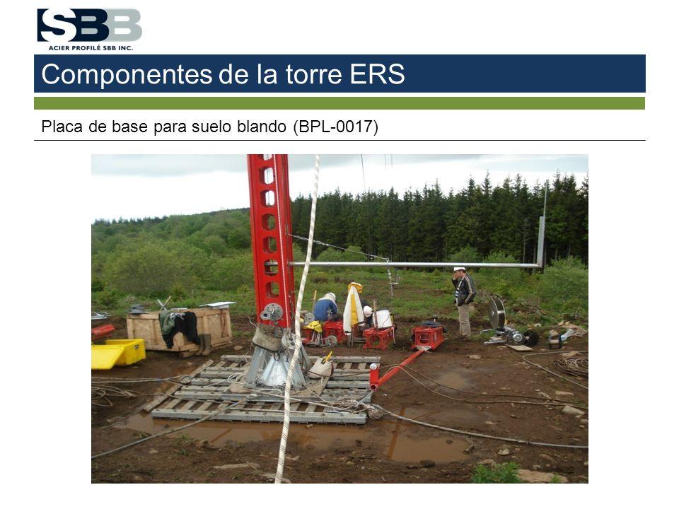 Componentes de la torre ERS Placa de base para suelo blando (BPL-0017)