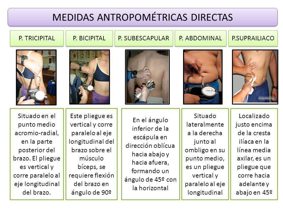 MEDIDAS ANTROPOMÉTRICAS DIRECTAS P.