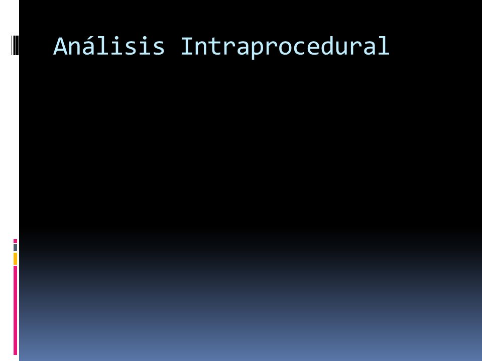 Análisis Intraprocedural