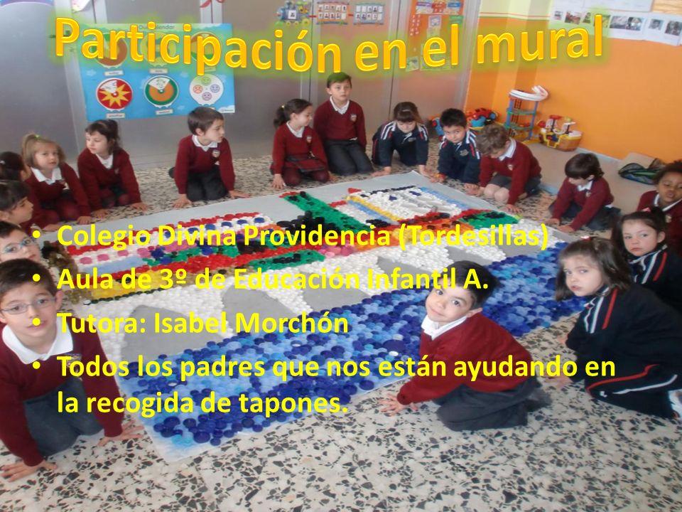 Colegio Divina Providencia (Tordesillas) Aula de 3º de Educación Infantil A. Tutora: Isabel Morchón Todos los padres que nos están ayudando en la reco