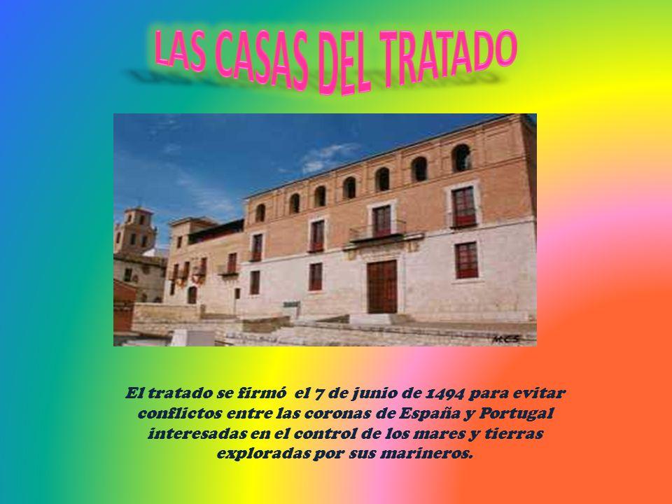 El tratado se firmó el 7 de junio de 1494 para evitar conflictos entre las coronas de España y Portugal interesadas en el control de los mares y tierr