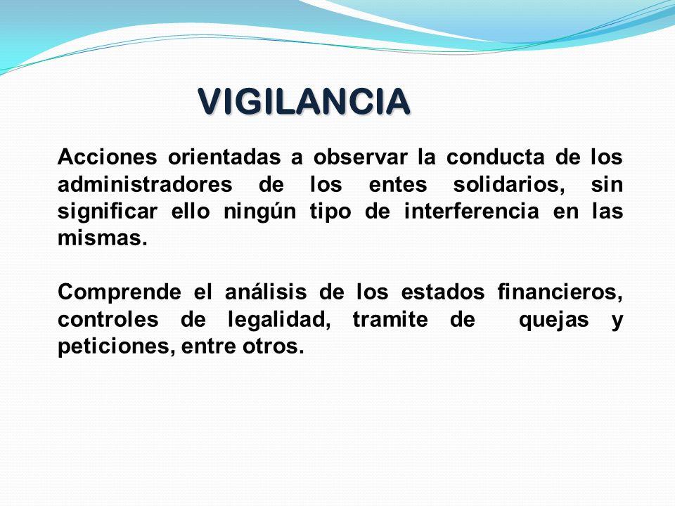 Ejercer el vigilancia, inspección y control sobre las entidades que cobija su acción para asegurar el cumplimiento de las disposiciones legales y regl