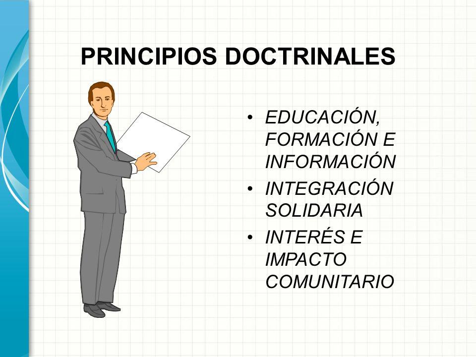 PRINCIPIOS DOCTRINALES ADHESION VOLUNTARIA Y ABIERTA. GESTION DEMOCRATICA (ASOCIADOS) PARTICIPACION ECONOMICA AUTONOMIA E INDEPENDENCIA.