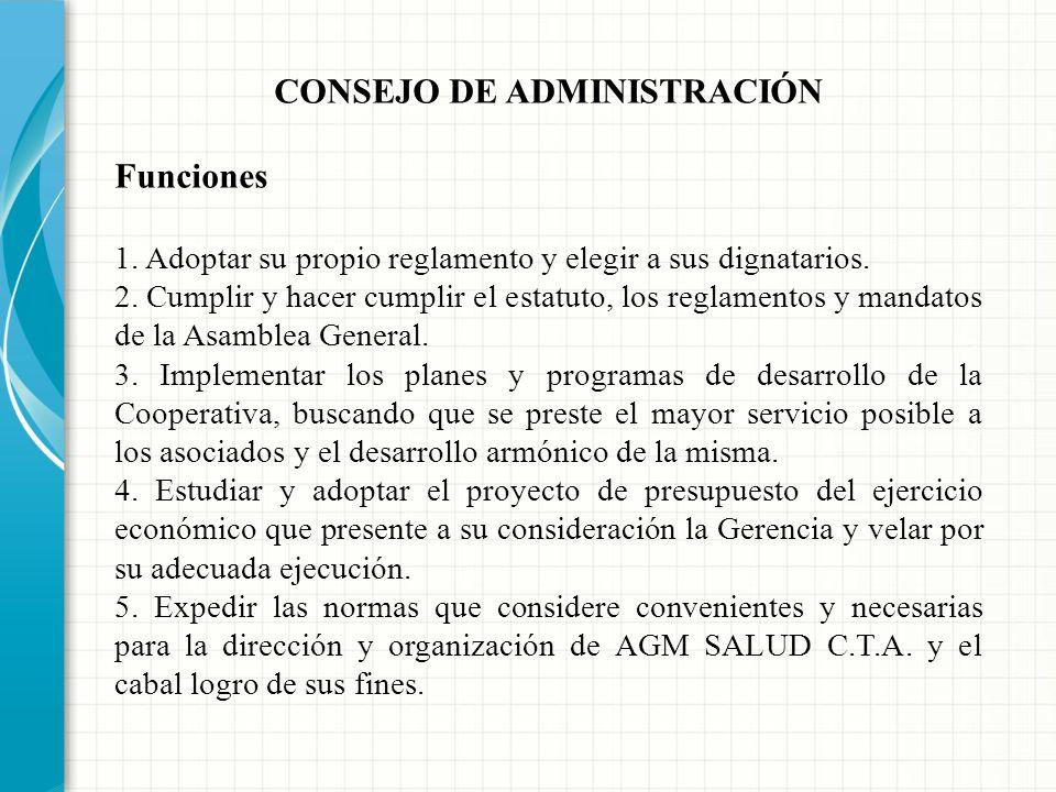 CONSEJO DE ADMINISTRACIÓN Requisitos para la elección de los miembros del Consejo de Administración 4. No haber sido sancionado durante el año anterio