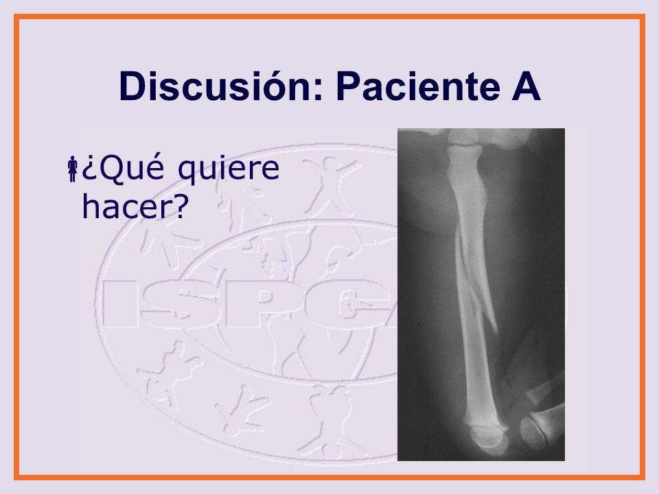 Discusión: Paciente B ¿Qué quiere hacer?