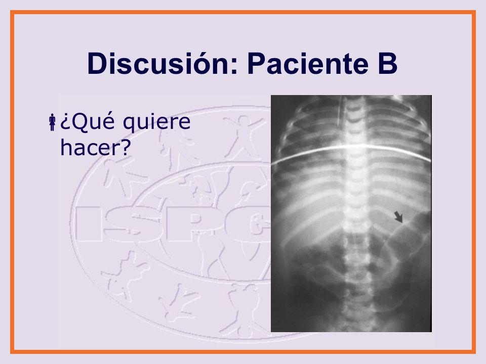 Discusión: Paciente C ¿Qué quiere hacer?