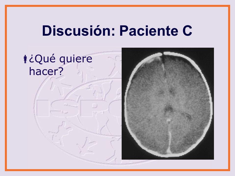 Discusión: Paciente D ¿Qué quiere hacer?