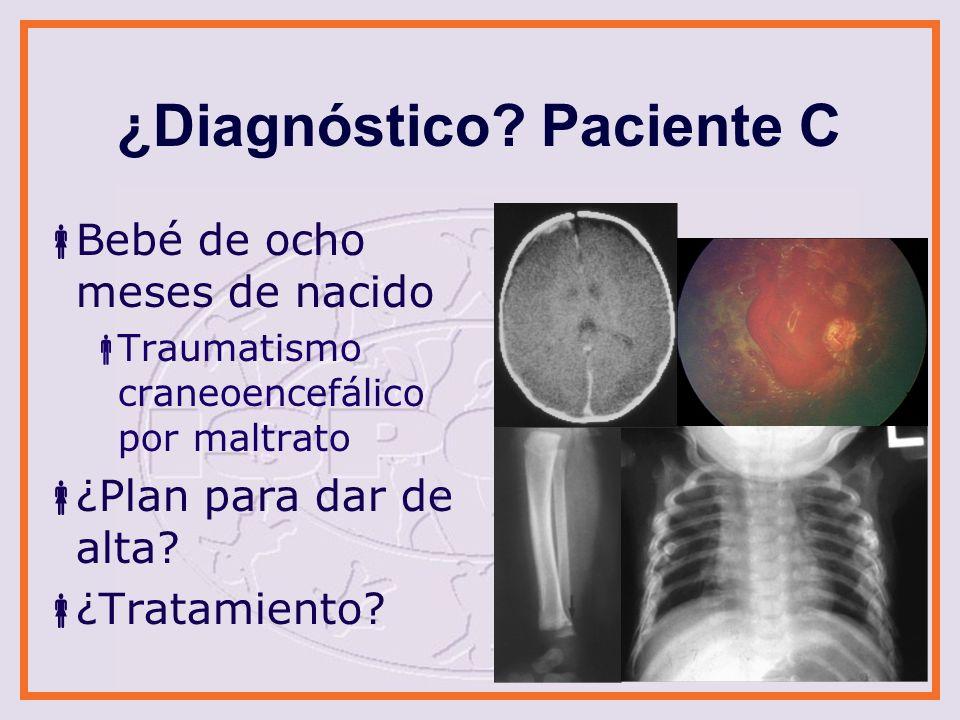 ¿Diagnóstico.Paciente D Menor de tres años Ingestión de veneno para ratas Negligencia.