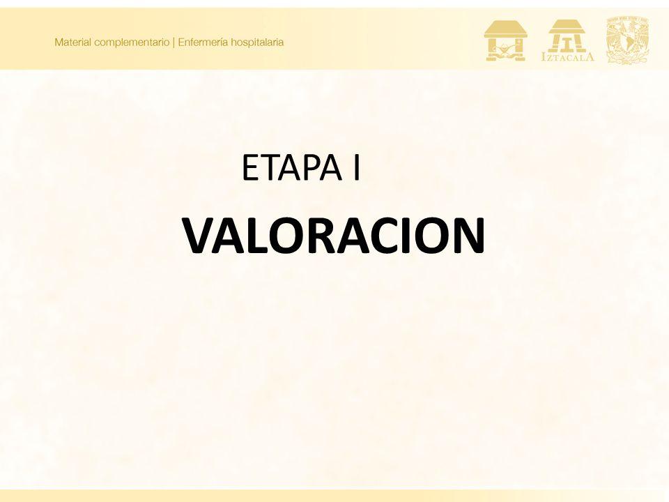 ETAPA I VALORACION