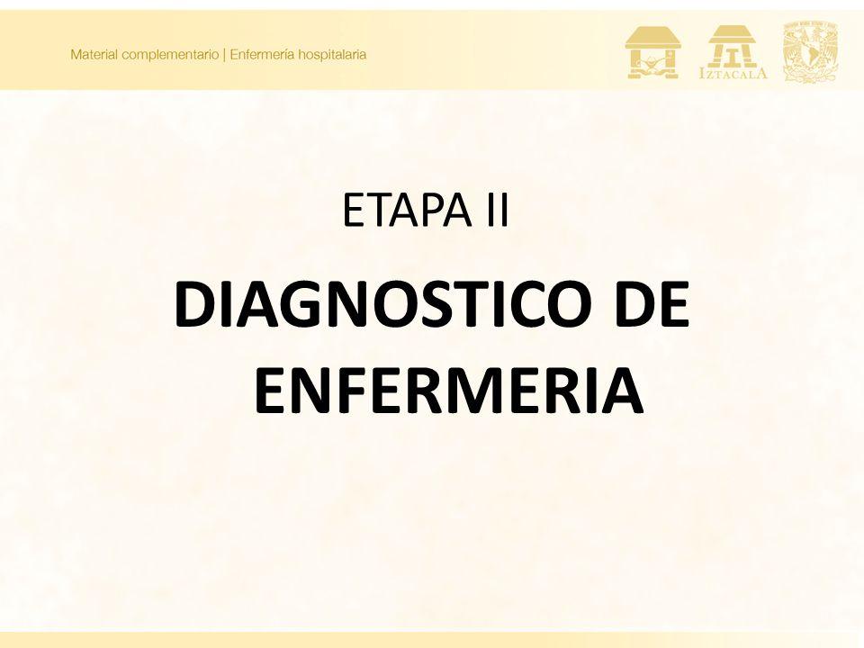 ETAPA II DIAGNOSTICO DE ENFERMERIA