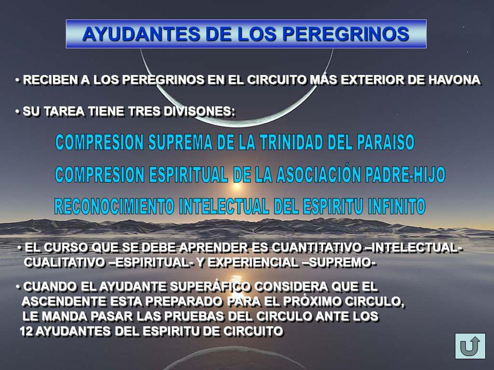 AYUDANTES DE LOS PEREGRINOS RECIBEN A LOS PEREGRINOS EN EL CIRCUITO MÁS EXTERIOR DE HAVONA RECIBEN A LOS PEREGRINOS EN EL CIRCUITO MÁS EXTERIOR DE HAV