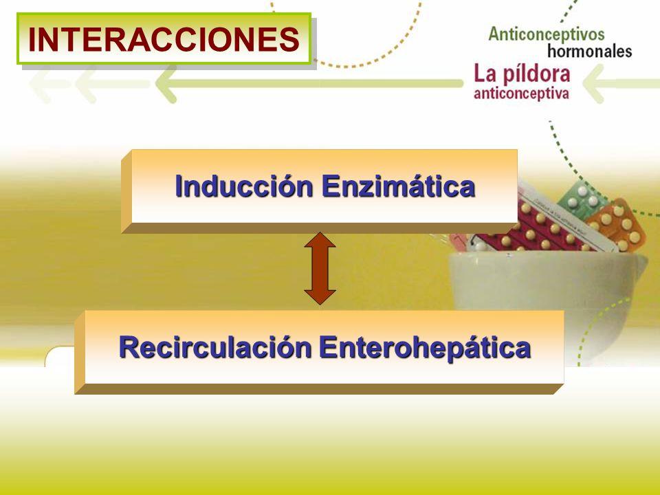 INTERACCIONES Inducción Enzimática Recirculación Enterohepática