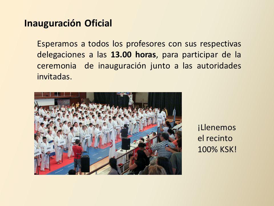 Inauguración Oficial Esperamos a todos los profesores con sus respectivas delegaciones a las 13.00 horas, para participar de la ceremonia de inaugurac