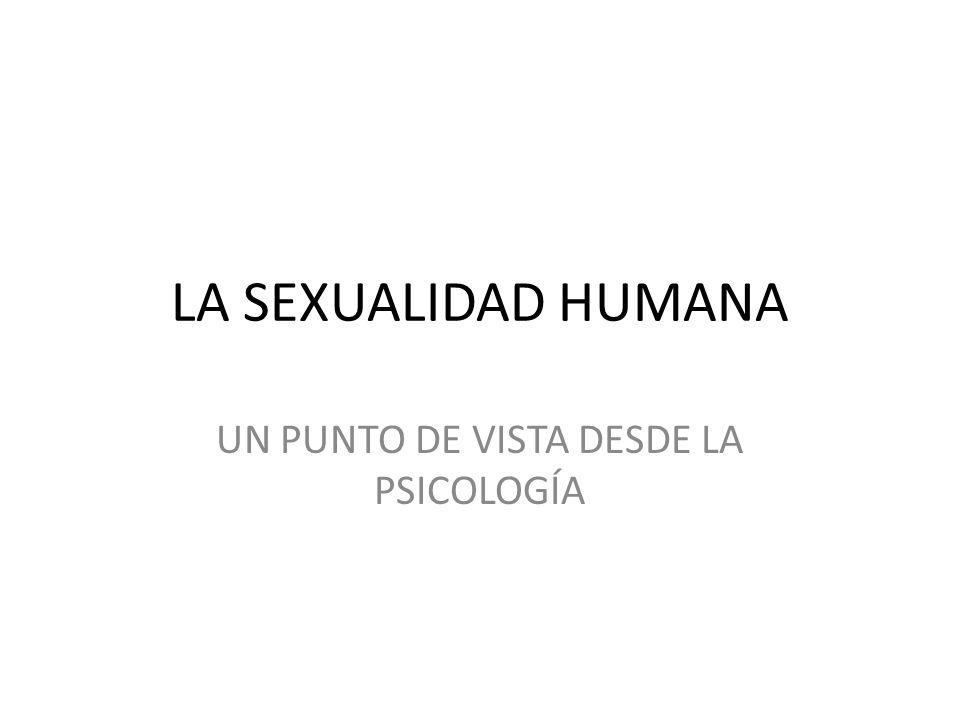 LA SEXUALIDAD HUMANA UN PUNTO DE VISTA DESDE LA PSICOLOGÍA