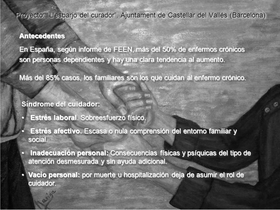 Proyecto: Lesbarjo del curador. Ajuntament de Castellar del Vallés (Barcelona) Antecedentes En España, según informe de FEEN, más del 50% de enfermos