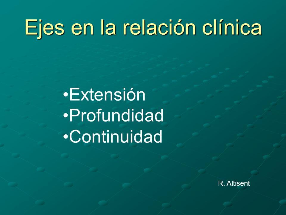 Ejes en la relación clínica Extensión Profundidad Continuidad R. Altisent