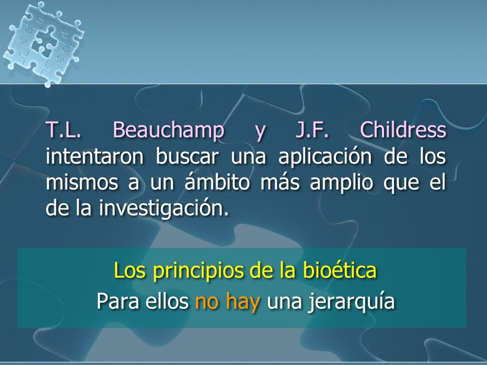 T.L. Beauchamp y J.F.