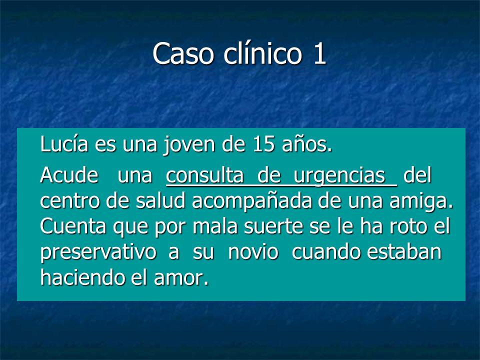 Caso clínico 1 Lucía es una joven de 15 años.