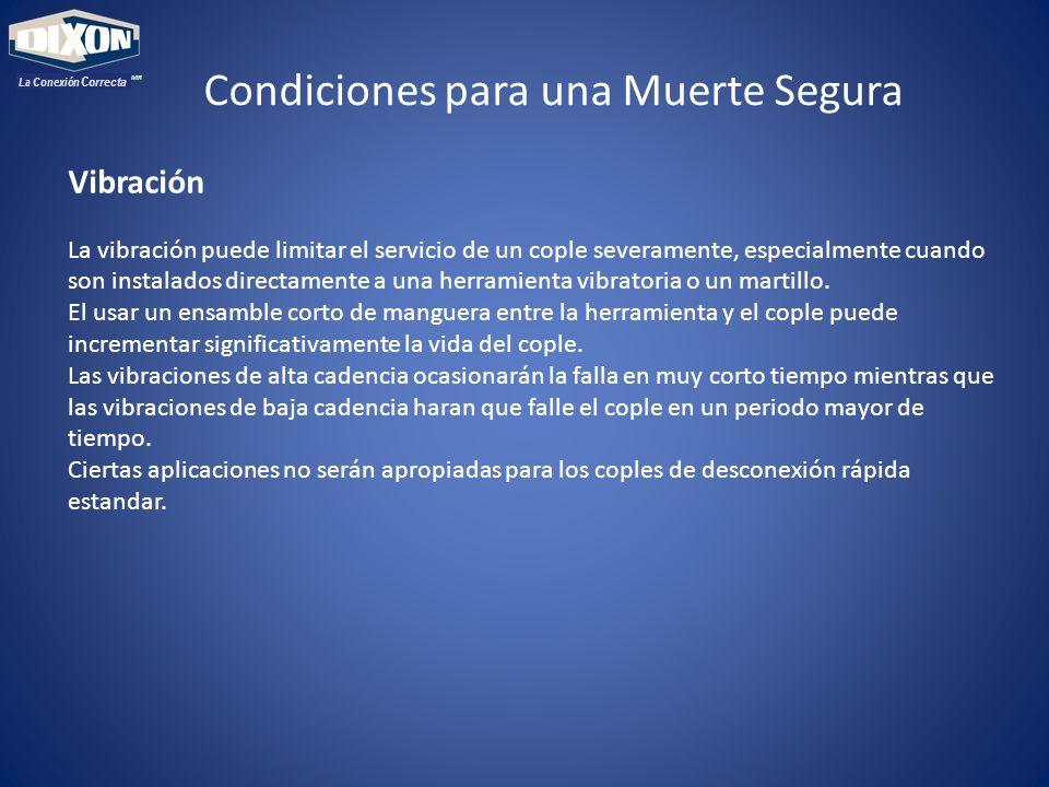 MR La Conexión Correcta Vibración La vibración puede limitar el servicio de un cople severamente, especialmente cuando son instalados directamente a u