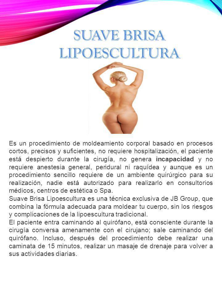 Es un procedimiento de moldeamiento corporal basado en procesos cortos, precisos y suficientes, no requiere hospitalización, el paciente está despiert