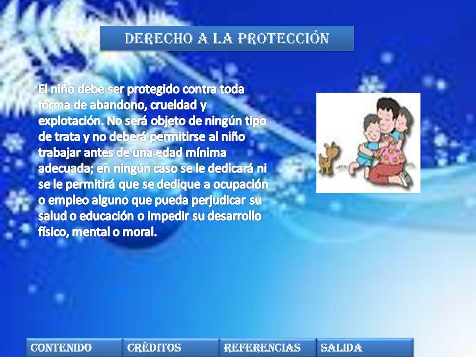 Derecho a la protección contenido créditos Salida referencias