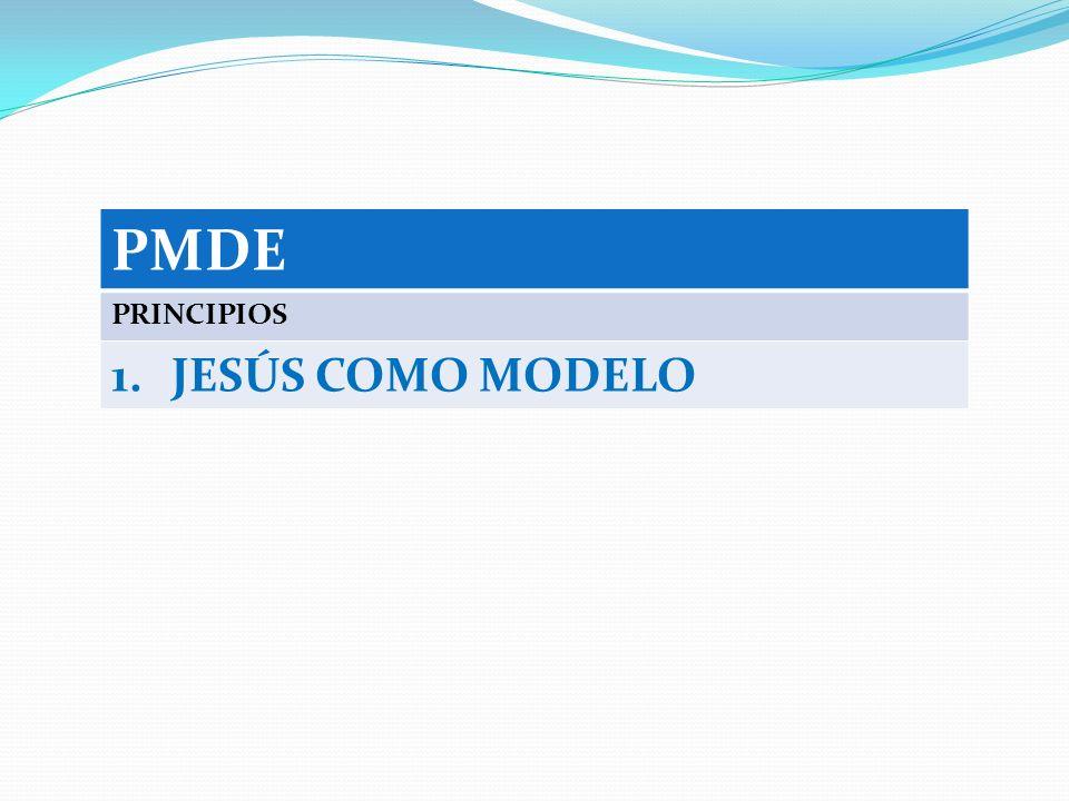 PMDE PRINCIPIOS 1.JESÚS COMO MODELO