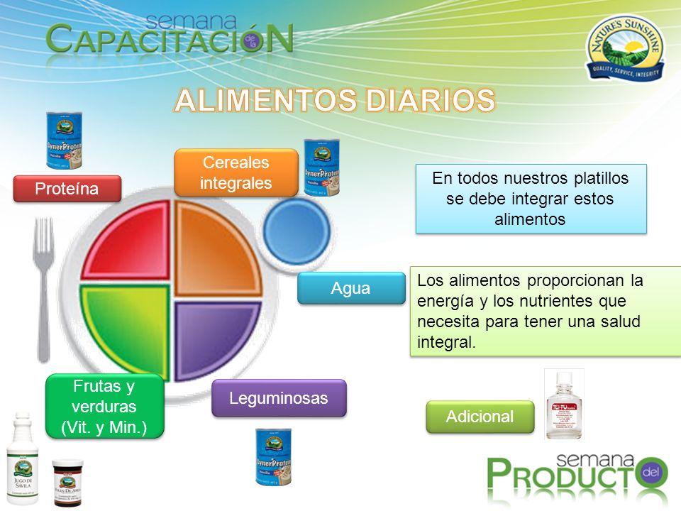Los alimentos proporcionan la energía y los nutrientes que necesita para tener una salud integral.