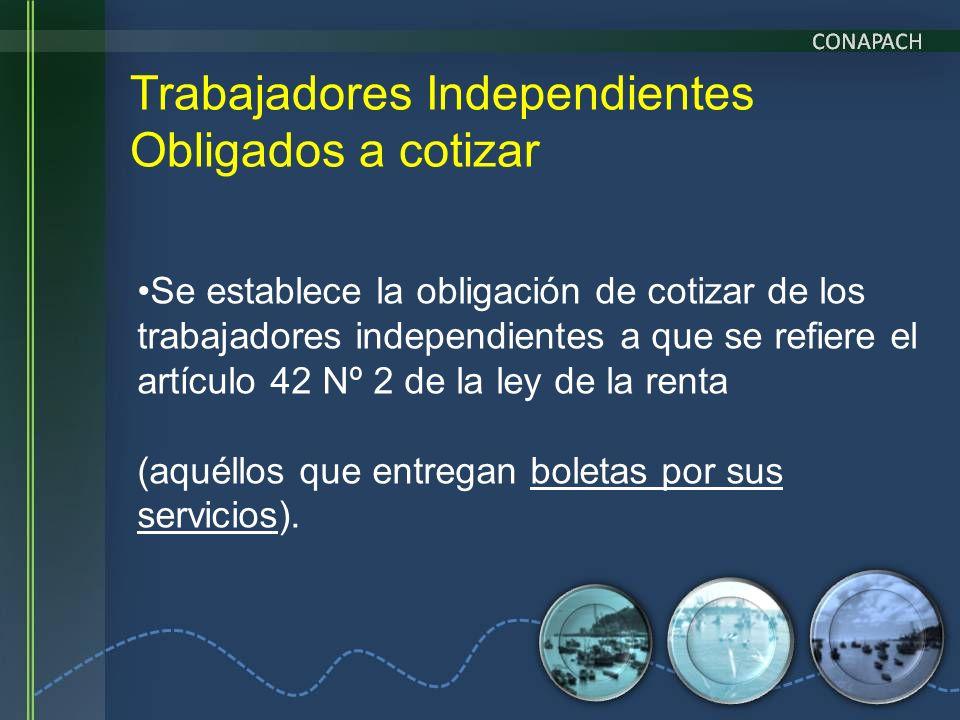 Trabajadores Independientes Obligados a cotizar Se establece la obligación de cotizar de los trabajadores independientes a que se refiere el artículo