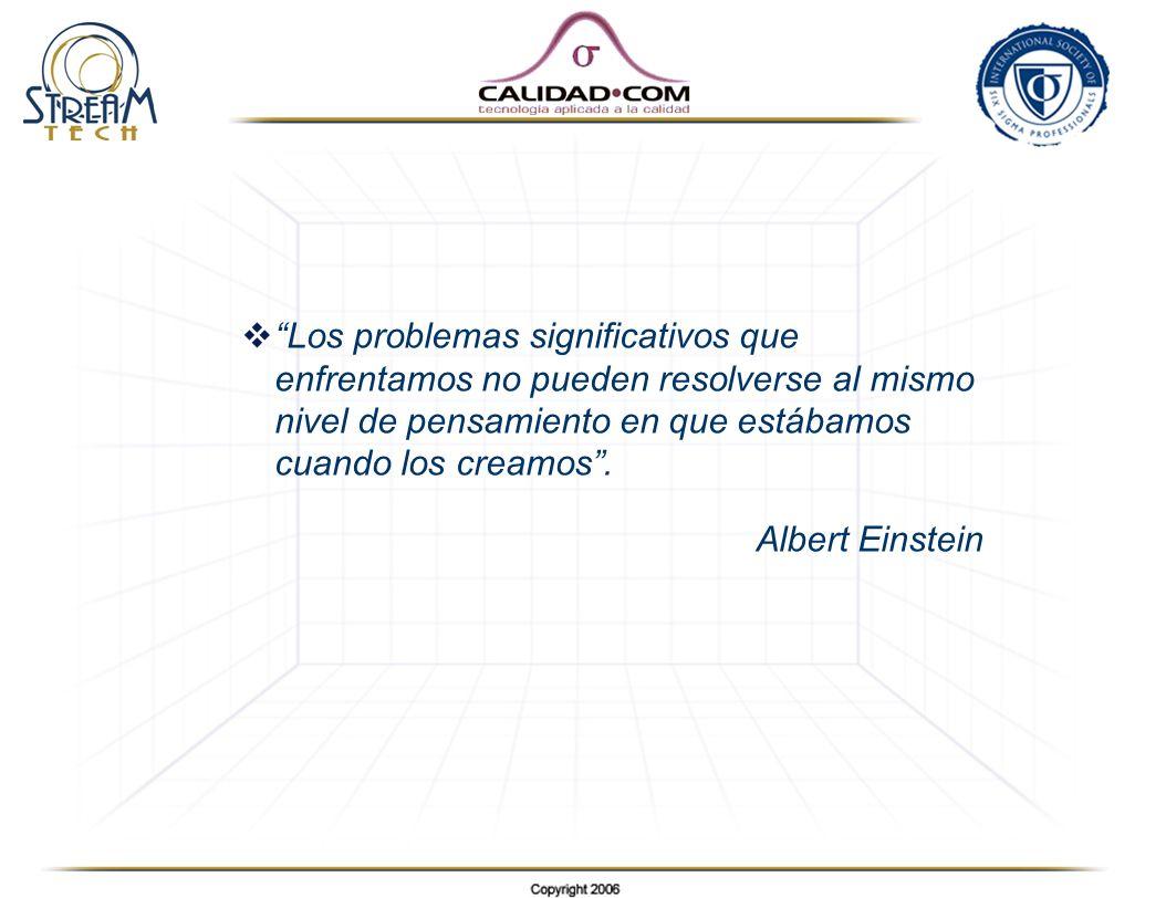 Los problemas significativos que enfrentamos no pueden resolverse al mismo nivel de pensamiento en que estábamos cuando los creamos. Albert Einstein