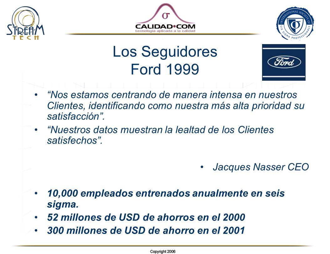 Los Seguidores Ford 1999 Nos estamos centrando de manera intensa en nuestros Clientes, identificando como nuestra más alta prioridad su satisfacción.