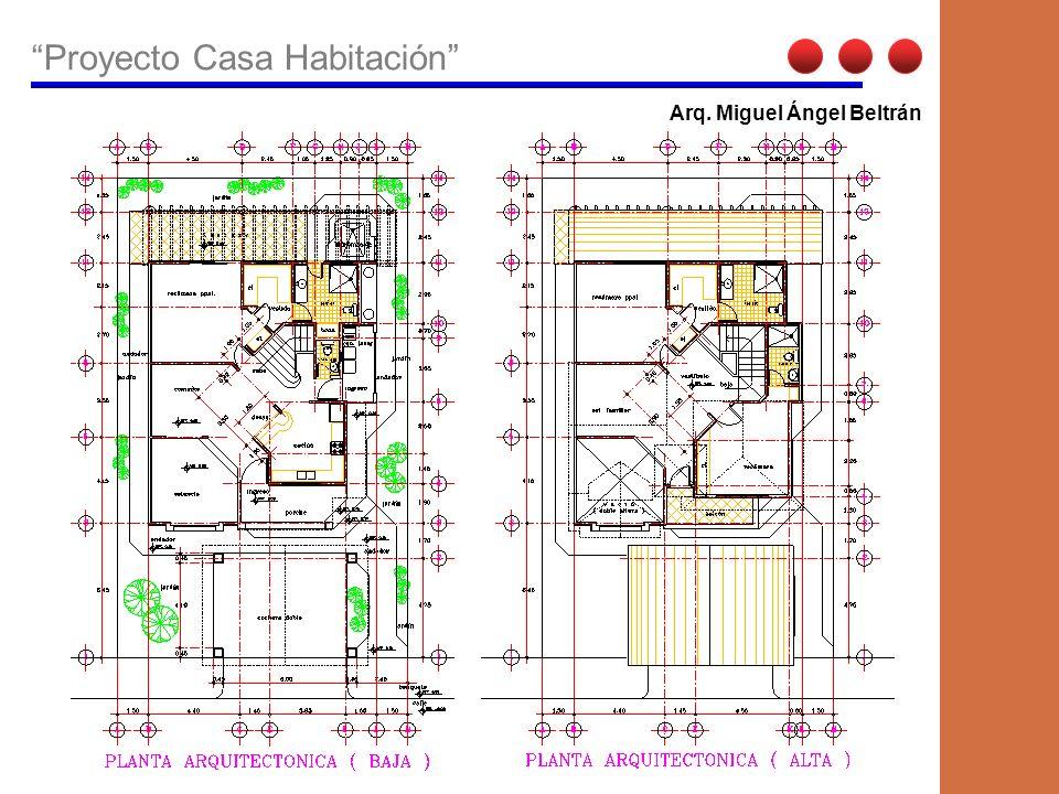 Proyecto Casa Habitación Arq. Miguel Beltrán Vega Vista fachada principal