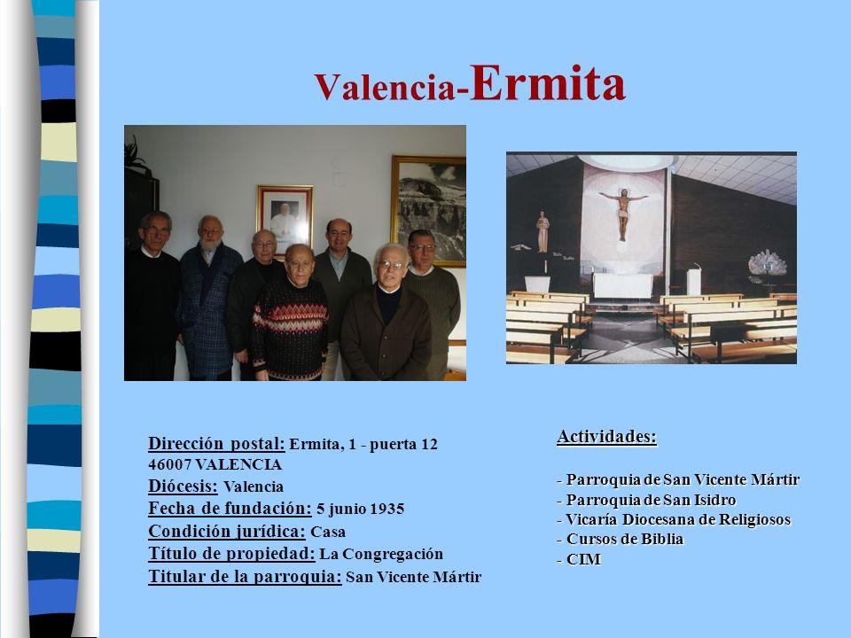 Valencia- Fuensanta Dirección postal: Pl.