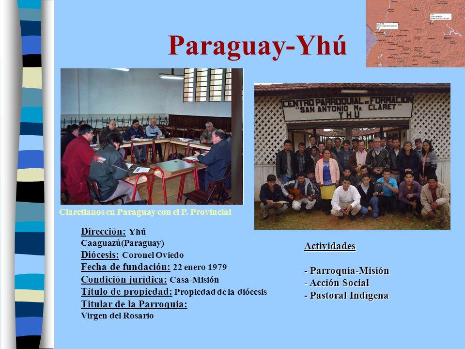 Paraguay-Lambaré Dirección postal: Casilla 4041.Sucursal 27.