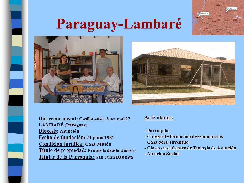 Paraguay-Historia Primeros Pasos (1979-1981): Llegada 12 de enero de 1979.