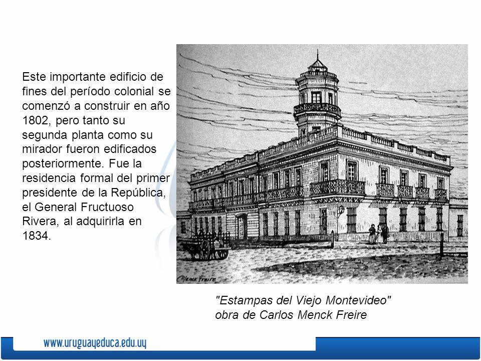 Este importante edificio de fines del período colonial se comenzó a construir en año 1802, pero tanto su segunda planta como su mirador fueron edifica